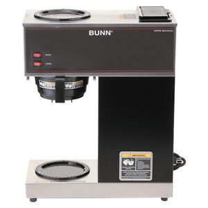Bunn Vpr Commercial 12 cup Pour over Shiny Coffee Brewer With 2 Warmers Portable