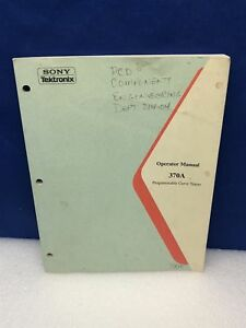 Sony Tektronix 370a Programmable Curve Tracer Operator Manual