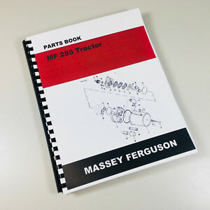 Massey Ferguson 285 Tractor Parts Catalog Manual Book Assembly Numbers