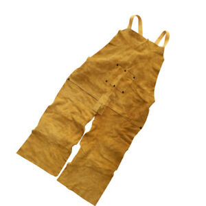 Welder Apron Weld Protect Apparel Artificial Cowhide Leather Fire Resistant