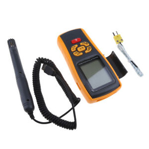 Portable Digital Hygrometer Thermometer Tester Gm1362 Humidity amp Probe