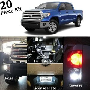 White Led Interior Exterior Lights Kit For 2014 2019 Toyota Tundra tool Tt5f