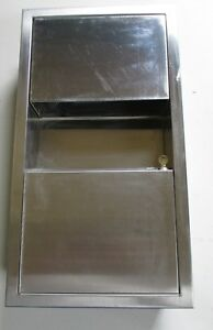 Aj Washroom Recessed Paper Towel Dispenser Waste Receptacle Stainless Steel
