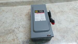 Square D Hu361 15 Hp 600vac Heavy Duty Nonfusible Safety Switch