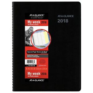 At a glance 76 950 05 Quicknotes Weekly monthly Appointment Book 8 7695005