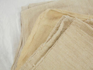 Lot 3 Vtg Antique Early 1800 Hemp Linen Grain Bag Sack Sheet Throw Blanket Quilt