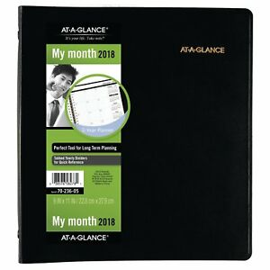 At a glance 70 236 05 Refillable Multi year Monthly Planner 9 X 11 7023605