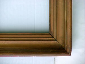 Frame Large 19th C Vintage American Hudson River Solid Wood Cove Fits 42 X 32