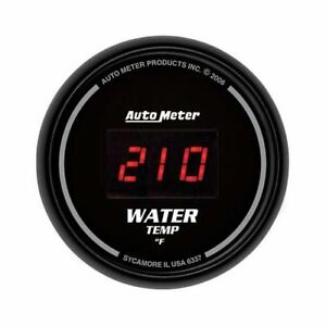 Autometer Sport Comp Digital Series Gauge Water Temperature 2 1 16 Dia 6337