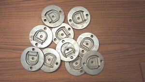 Lot Of 10 Cargo Trol Recessed Tie Down D Rings Lashing Flatbed Trailer Towing