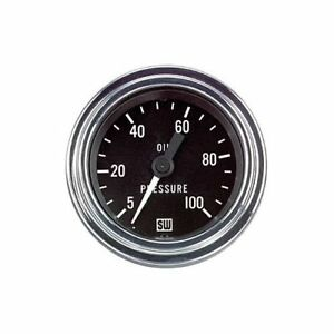 Stewart Warner Deluxe Series Mechanical Oil Pressure Gauge 2 1 16 Dia 82323