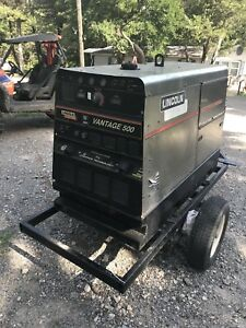2011 Lincoln Vantage 500 Diesel S a Towable Welder Generator Fully Operational