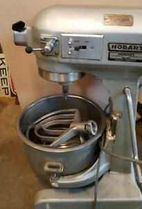 20 Qt Mixer Hobart A 200 Commercial Bakery Power head Hub Attachments Bowl Whisk