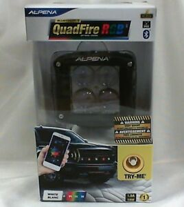 Alpena Quadfire White Rgb red green blue Led Bluetooth Strobe Pod Light Unit
