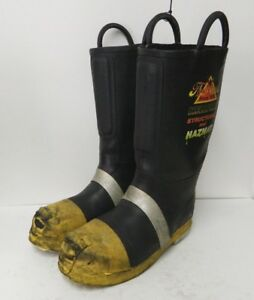 Thorogood Structural Hazmat Steel Toe Firefighter Fire Fighter Boots 9 5 Medium