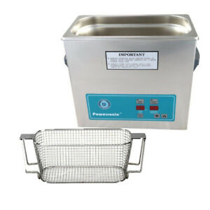 Crest P360h 45 Ultrasonic Cleaner heat Timer mesh Basket