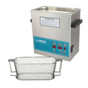 Crest P360d 45 Ultrasonic Cleaner W Power Control mesh Basket