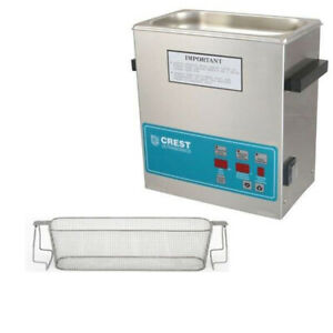 Crest P360d 132 Ultrasonic Cleaner W Power Control perf Basket