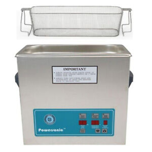 Crest P500d 132 Ultrasonic Cleaner W Power Control perf Basket