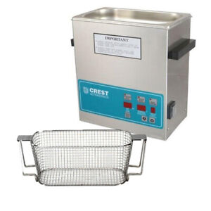 Crest P360d 132 Ultrasonic Cleaner W Power Control mesh Basket
