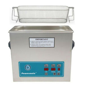 Crest P500d 45 Ultrasonic Cleaner W Power Control perf Basket