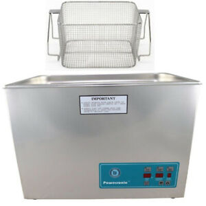 Crest P1800d 45 Ultrasonic Cleaner W Power Control mesh Basket