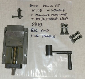Emco Pcmill Cnc Mill Vise W Handle Mounting Hardware Adjustable Stop 0803