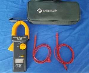 Greenlee Cm 1050 1000a Ac dc True Rms Clamp Meter W Case