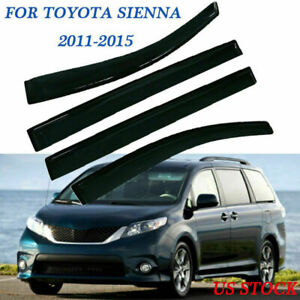 Fit For Toyota Sienna 2011 2016 2017 4x Outside Window Visor Rain Guards Tape On