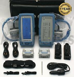 Agilent Wirescope Pro N2640a 100 Lan Cable Certifier Set Cat5e Cat6 Cat6a Ghz