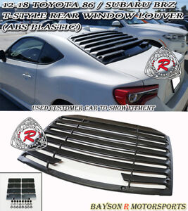 T Style Rear Window Louver Sun Shade Cover Abs Fits 12 18 Brz Fr S Toyota 86
