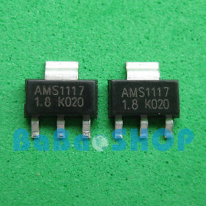 10pcs 1000pcs New Ams1117 1 8 Lm1117 Ams1117 1 8v 1a Voltage Regulator Sot 223