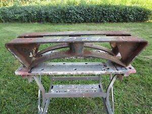 Vtg Industrial Table Legs Cradle 550 1000 Gallon 4 Fuel Storage Tank Iron Skid