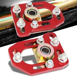 Aluminum Red Front Adjustable 3 Camber 2 Caster Plates For 79 89 Mustang