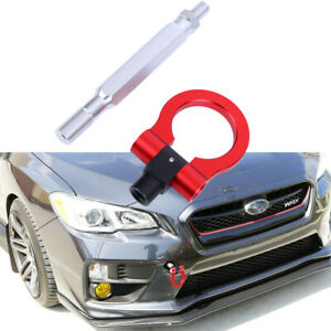 Red Track Racing Style Cnc Aluminum Tow Hook For Subaru Wrx Wrx Sti 15 up
