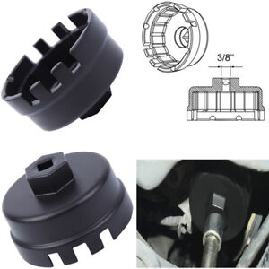 Car 64mm Oil Filter Housing Tool Remover Cap Wrench 14 Flutes For Lexus Toyota