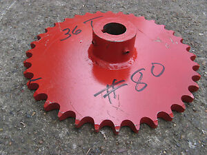 Large 80 Roller Chain Sprocket 12 W Hub Nos 1 3 8 Bore 36 Tooth Steampunk