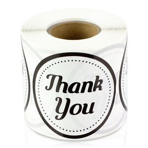 Thank You Stickers For Weddings Gifts Circle Round Thanks Labels 2 10 Rolls