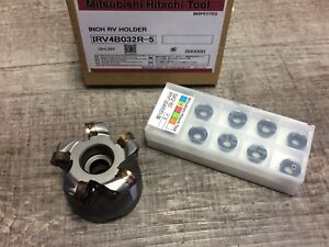 New Hitachi 1 3 4 Indexable Face Mill W 3 4 Arbor Hole Inserts