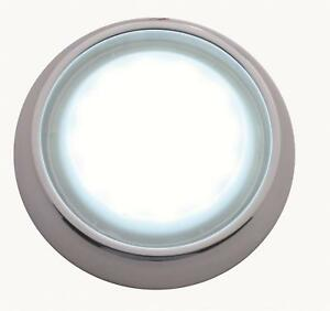 United Pacific Led Dome Light Round Chrome Bezel Chevy Each Cdl555701 as