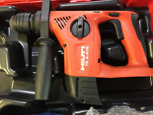 New Hilti Te 4 a18 Hammer Drill W charger 2 Batteries And Hard Case