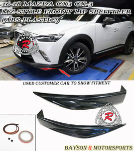 Mz Style Front Lip Splitters Abs Fits 16 18 Mazda Cx 3 Cx3