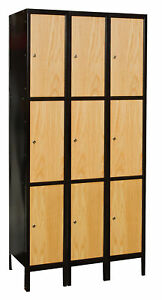 Hallowell Hybrid 3 Tier 3 Wide Employee Locker