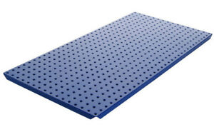 Alligator Board Powder Coated Metal Pegboard Panels With Flange In Blue Set Of 2