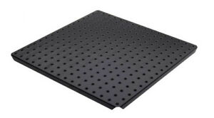 Alligator Board Metal Pegboard Panels With Flange In Black