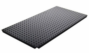 Alligator Board Powder Coated Metal Pegboard Panels With Flange In Black