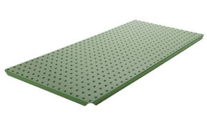 Alligator Board Powder Coated Metal Pegboard Panels With Flange In Green