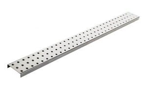 Alligator Board Powder Coated Metal Pegboard Strips With Flange In Silver