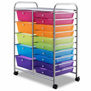 Rebrilliant Ezzell 15 Drawer Rolling Storage Chest