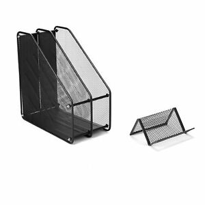 Mind Reader Metal Mesh 7 Piece Office Desk Organizer Set